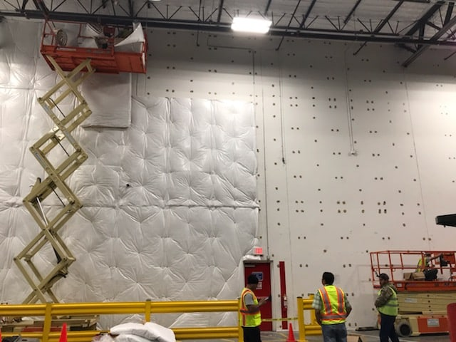 Warehouse Insulation Being Built