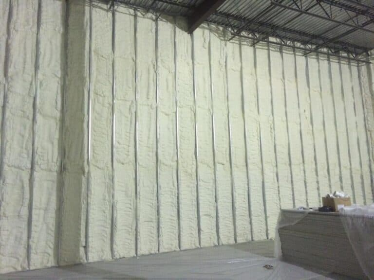 Ware House Wall Insulation Not Finished