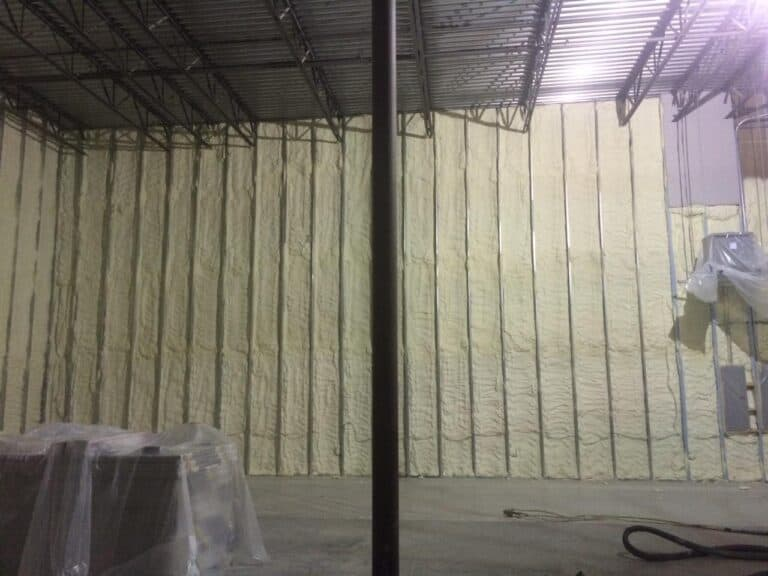 Warehouse early wall insulation